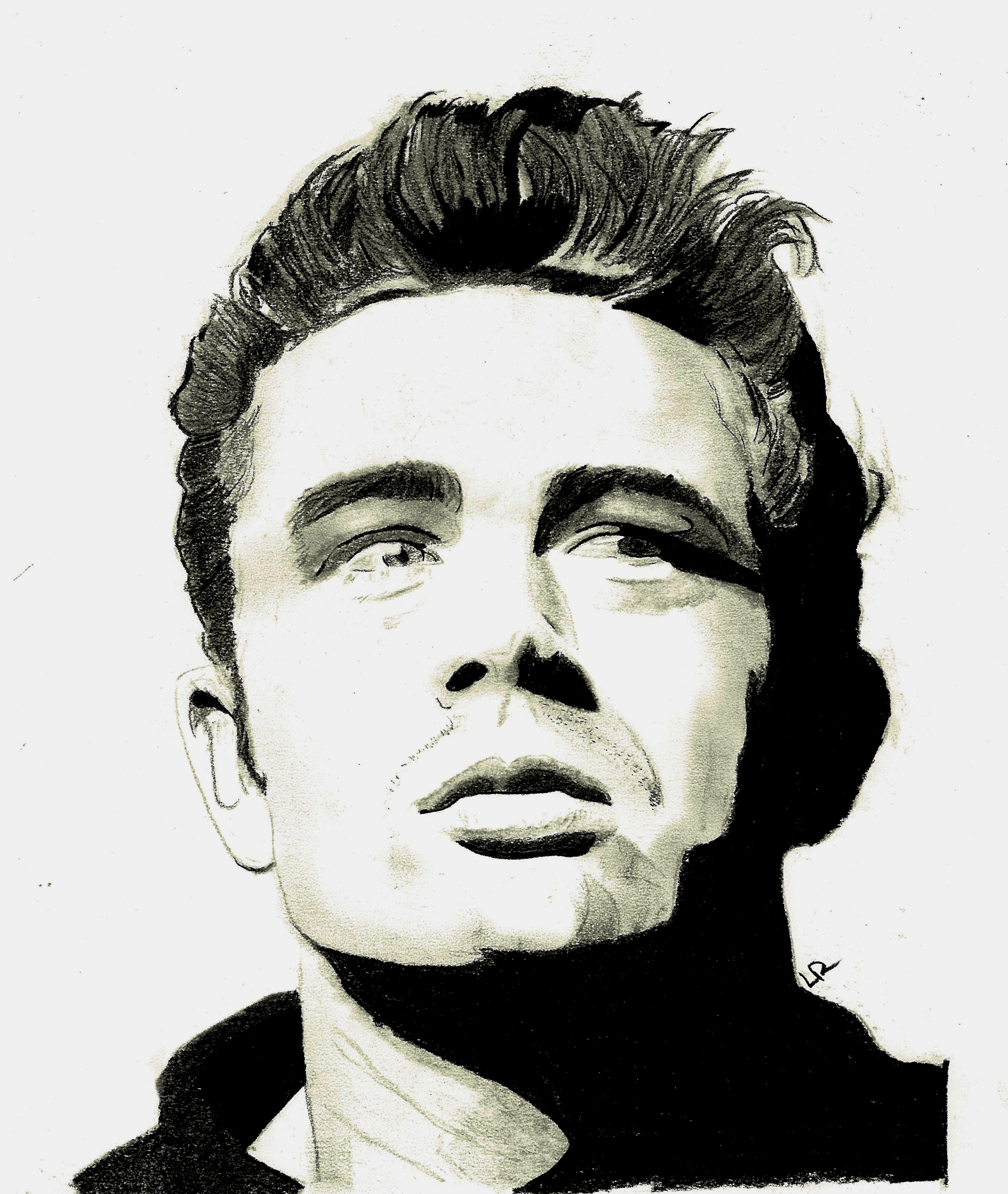 james dean black and white painting - photo #21
