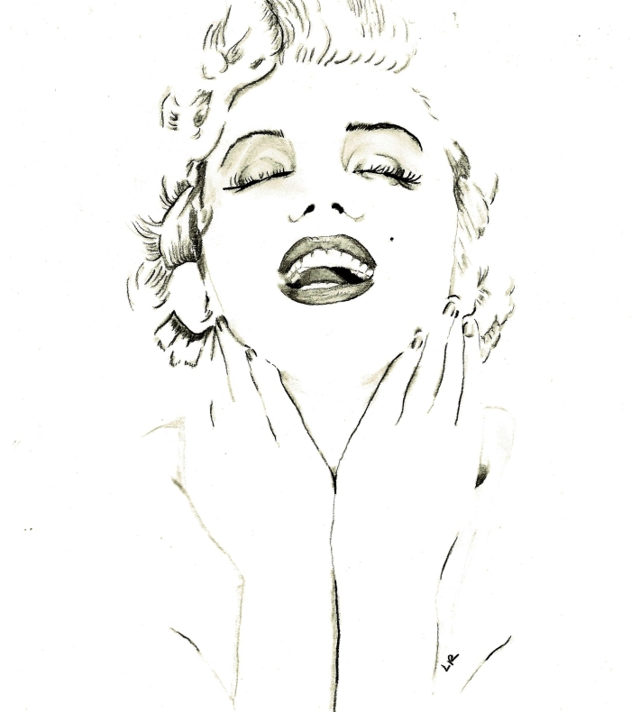 """Marilyn"" (remake of Ileana Hunter's drawing)"